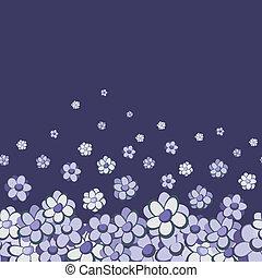 Vintage floral vector seamless border