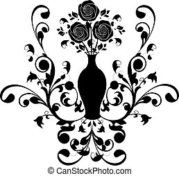 vintage flourishes with roses