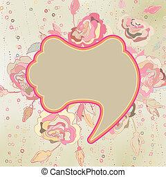 Vintage flower background. EPS 8