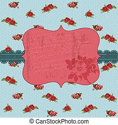 Vintage Flower Card - for invitation, congratulation, wedding in vector