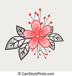 Vintage Flower Element