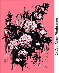 vintage flower painting