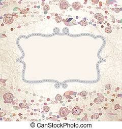 Vintage flower template, floral background. EPS 8