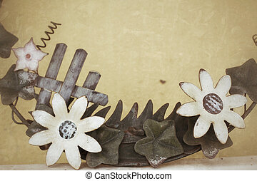 Vintage flower texture