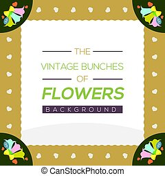 Vintage Flowers Background Vector Illustration