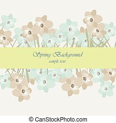 Vintage flowers card border