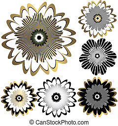 Vintage flowers for design (vector)