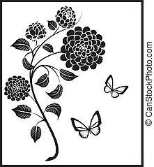 vintage flowers - Is a illustration in a EPS file.