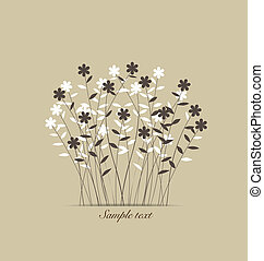 Vintage flowers. Vector Illustration.