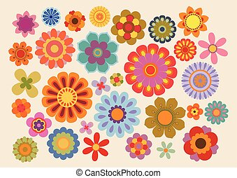 Vintage flowers - Vector illustration of the flowers design...