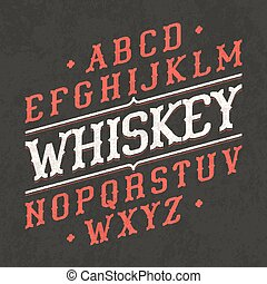 Vintage font - Whiskey style vintage font. Ideal for any...