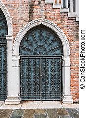 vintage forged gate