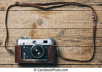 vintage fototoestel, oud, film, foto