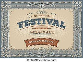 Vintage Fourth Of July Festival Bac