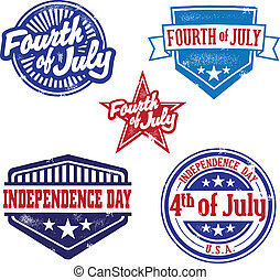 A great selection of vintage stamp graphics to celebrate the 4th of July, America's Independence Day.