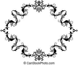 vintage frame - Abstract floral vector frame background in ...
