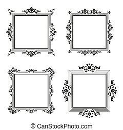 vintage frame border set