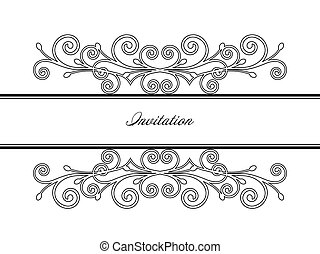 Vintage frame decor. Vector illustration