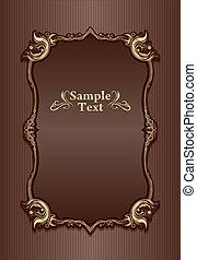Vintage frame design template