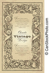 vintage frame design (vector)
