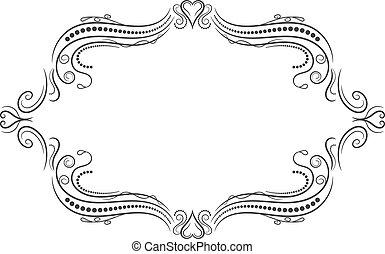 Vintage frame. Elegant luxury vintage calligraphy frame.
