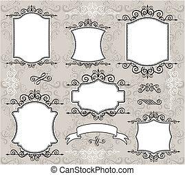 vintage frame elements