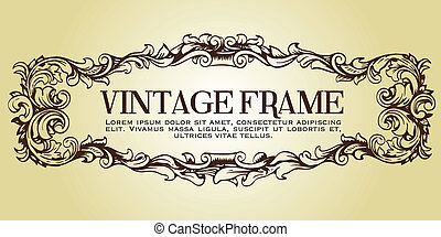 Floral Frame Vector. Hand-drawn.