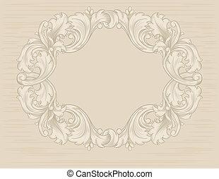 vintage frame floral patterns