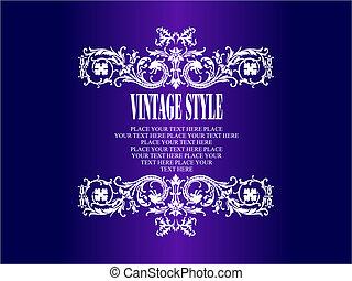 Vintage frame. Floral vector colored illustration. Wedding Invitation