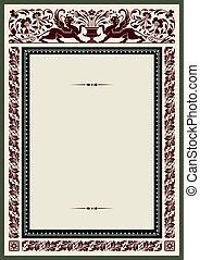 Vintage frame for certificate