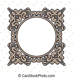 vintage frame for circle form