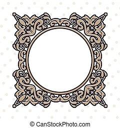 vintage frame for circle form