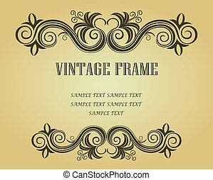 Vintage frame for design