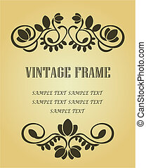 Vintage frame for design