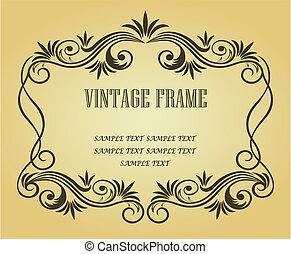Vintage frame for design - Vintage frame in victorian style...