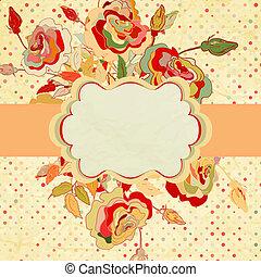 Vintage frame for your design. EPS 8