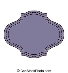 vintage frame icon with oval shape