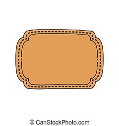 vintage frame icon with rectangular shape