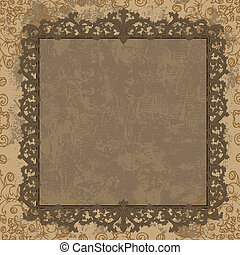 Vintage frame in the Baroque style