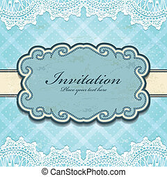 Vintage frame invitation template