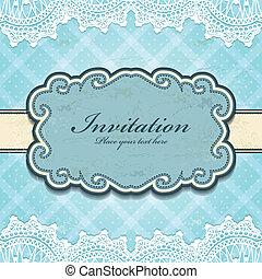 Vintage frame invitation template