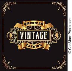 Vintage frame label design
