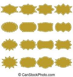 Vintage frame label , paper design for web ,Stickers, Tags