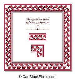 Vintage frame od Red Heart Geometry Line