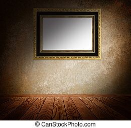 Vintage frame on a wall.