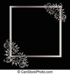 Vintage  frame on black background