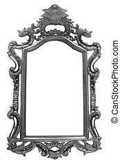 vintage frame on white background
