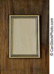 vintage frame on wooden wall