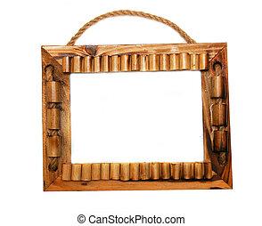 vintage frame over white