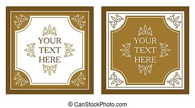 vintage frame pattern retro background. Calligraphic design elements. vector vintage frame with place for your text